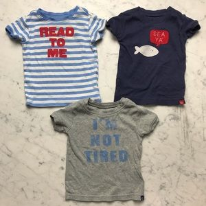 Baby Gap Read To Me I'm Not Tired T Shirt Bundle